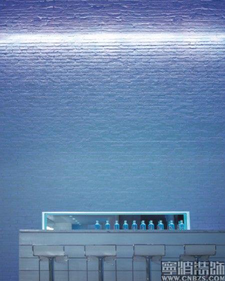 蓝色楼群设计素材