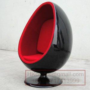 欧式休闲椅 转转椅 太空蛋椅 个性眼球椅; 经典设计椭圆球椅ball