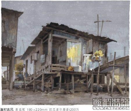 云南风景手绘马克笔