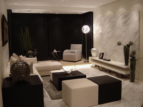 大理石欧式客厅暗门装修效果图
